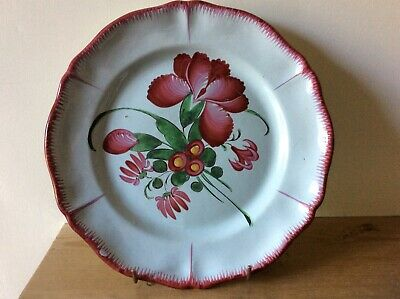 Antique French Faience Plate. St Clement. Luneville.