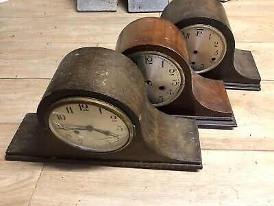 Vintage Napoleon Hat Westminster Chiming Mantle Clocks (x3)