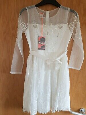 Girls age 11 Bnwt Bridesmaid Ivory Dress Monsoon