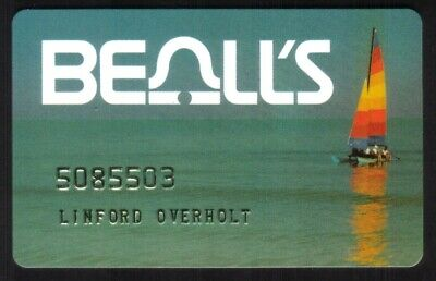 Beall's Department Stores Regular Size Merchant Credit Card