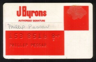 J Byrons Regular Size Merchant Credit Card