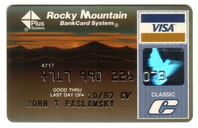 Rocky Mountain BankCard System Classic VISA Credit Card Exp 10/87