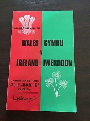 RUGBY UNION - WALES v Ireland 1977