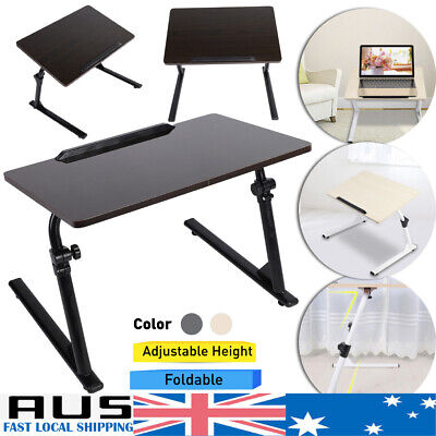 Foldable Laptop Desk Adjustable Notebook Computer iPad PC Stand Bedside Table