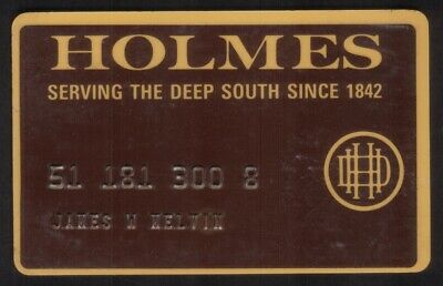 D.H Holmes Co. Stores Regular Size Merchant Credit Card