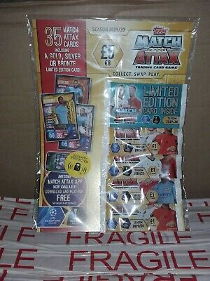 Match Attax  Trading cards 19/20 multipack limited edition card inside