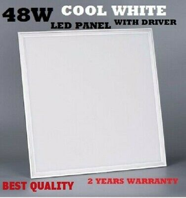 48W LED Panel Light Recessed Ceiling 600 x 600 x 9mm - Cool White 6500K New
