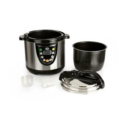 Tfk 6.3 Qt. Silver Electric Pressure Cooker With Built-In Timer