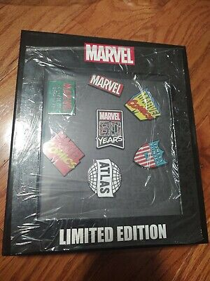 Marvel NYCC 2019 Exclusive Comics 80th Anniversary Logo Pin Sets Ltd 120 IN HAND