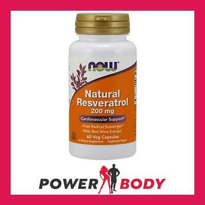 NOW Foods - Natural Resveratrol with Red Wine Extract
