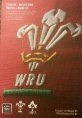 Wales V Ireland Rugby World Cup Warm Up 2015