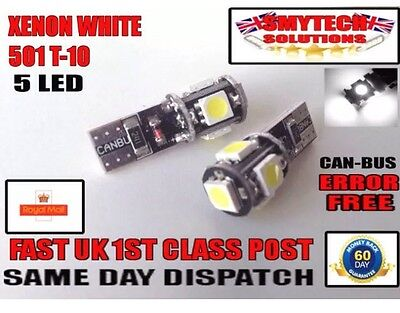 Fits Citroen Ds 9W LED Canbus Error Free 501 Sidelight Parking Bulbs Xenon Whi