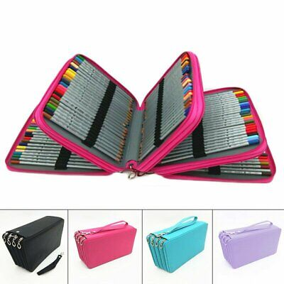 Large Capacity School/College/Uni Pen Pencil Cases Zip Stationery Pouch Bag Case