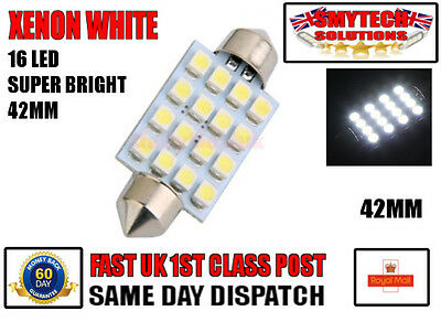 VW Passat 3C2 264 42mm White Interior Boot Bulb LED High Power Light Upgrade
