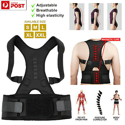 Posture Corrector Shoulder Clavicle Brace Lower Back Support Magnetic Women Men