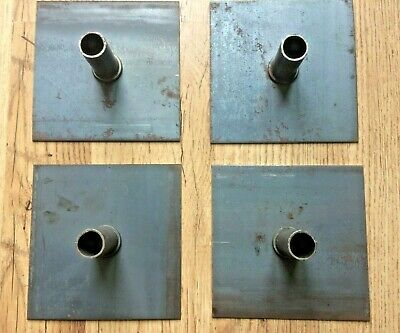 4 x Scaffolding Tower Base Plates,    ( fittings/clamps/couplers/clips )