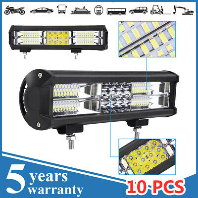 LED Light Bar 12V 24V Flood Spot Combo Beam Offroad Work Lamp 288//432W//720W//864W