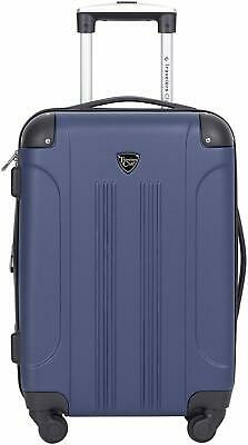 """Travelers Club 20"""" Chicago Expandable Spinner Carry-On Luggage  (Cobalt Blue)"""