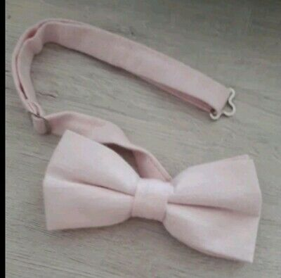 Mens Nude Blush Champagne Light Pink Dicke Bow Tie pre tied rose rustic wedding