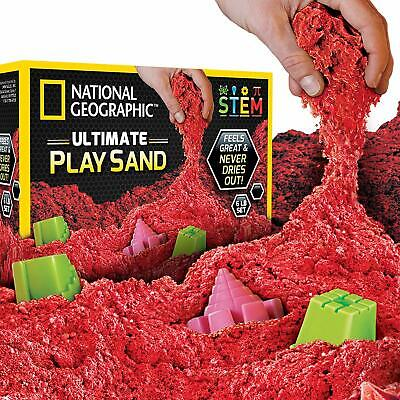 National Geographic Ultimate Play Sand Set Kinetic Sensory Activity Red 6 lbs