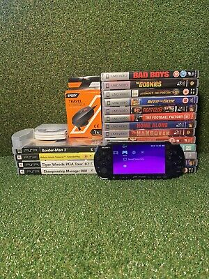 Sony PSP Console Bundle - 13 Films + 7 Games