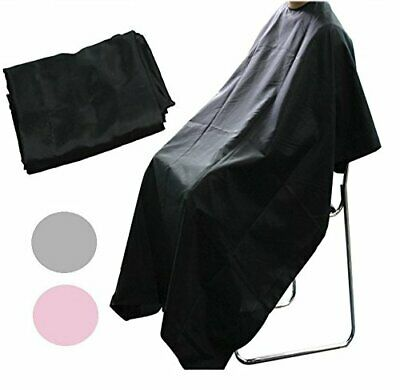 New Unisex Adults Black Hair Salon Hairdressing Barbers Gown Cutting Cape Cover