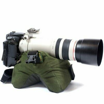 Stealth Gear Double Bean Bag (FILLED) with Strap Green Camera Mount Stabiliser