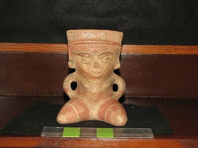 Pre Columbian, Pottery, Costa Rican, Popular Sitting Female Figure, +900 1350