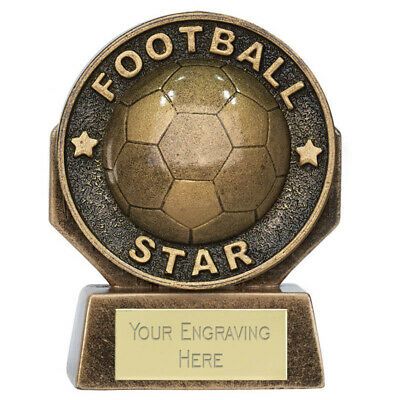 Heavyweight Trophies PM20367 FOOTBALL TROPHY Golden Boot Award FREE ENGRAVING