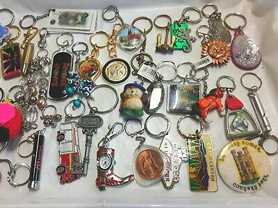 Job Lot 35 Key Rings Fobs  mixed bag as pictured ref:A377