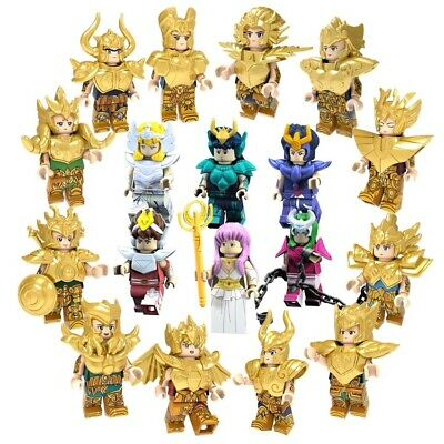 Saint Seiya Gold Saint Mini Figurines Compatible Lego 18 Pieces