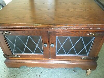 Solid Dark Oak TV cabinet - Old Charm - Wood Bros, used but excellent condition