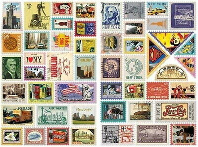 Stamp Decorative 100 Stickers Ver.3 - New York 7321 Design Gift Present