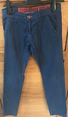 Boys Designer Navy Blue Chinos By Charanga Age 12