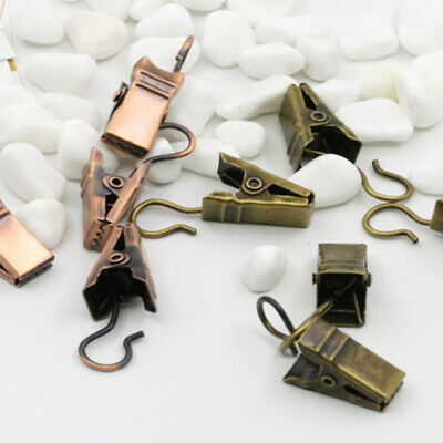 60PCS Convenient Curtain Clamps Curtain Hook for Home Living Room