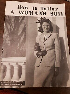 Vintage How to Tailor a Woman's Suit from US Dept of Agriculture 24 Pages 1952