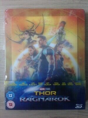 THOR RAGNAROK - Steelbook Lenticular Zavvi - Bluray 3D+2D - NEW & SEALED