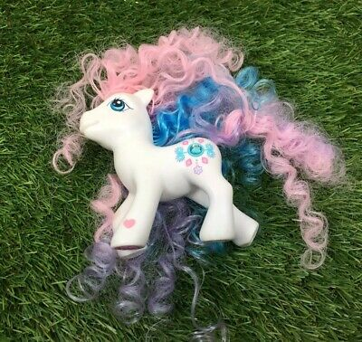 My Little Pony – Precious Gem – White Pony – Pink/ Blue/ Purple Mane 2006