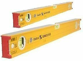 Stabila STB-16333 Type96-2 120cm/60cm Twin Spirit Level Pack