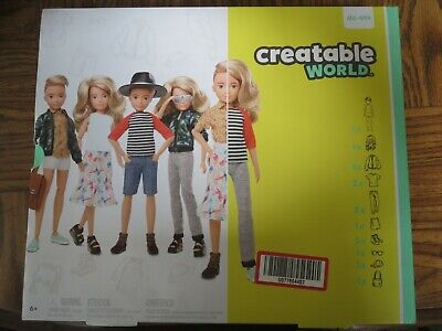 Creatable World™ Deluxe Character Kit Customizable Doll, Blonde Wavy Hair