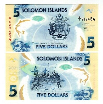 Solomon Island In Oceania, 1 Note Of 5 Dollars , Nd(2019), P-32, Unc From Bundle