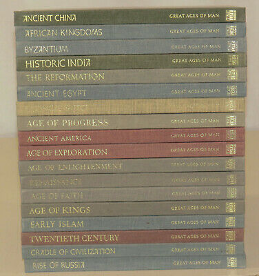 Great Ages of Man Series - Lot of 18 hardcover - Time Life World Library Books