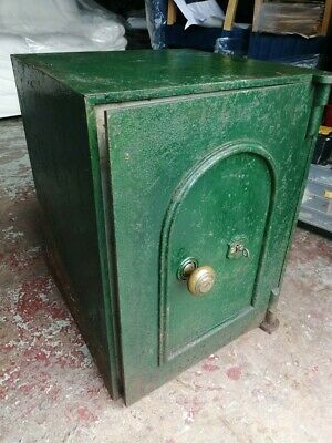 Cast Iron Vintage Metal Safe With Key, Lock Up