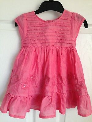 Baby Girls Baby Baker By Ted Baker Pink Dress 2 Piece Set - Age 6-9 Months NWOT