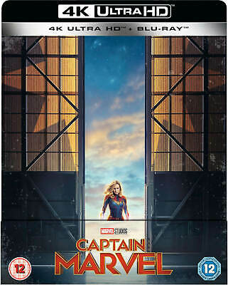 Captain Marvel (4K UHD)Limited Edition Steelbook Includes 2D Bluray Uk Exclusive