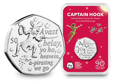 Peter Pan - Captain Hook 50P 2019 In Capsule Limited Edition Capsule Edition