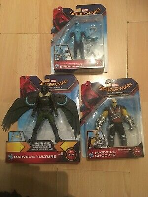 Marvels Homecoming Vulture Spiderman Tech Suit And Shocker New Fast Freepost