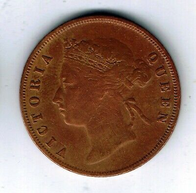 1901 Straits Settlements 1 cent coin