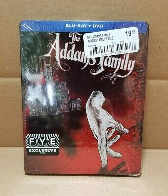 The Addams Family (Blu-Ray + DVD, 2019) FYE Exclusive Steelbook 1991 NEW SEALED