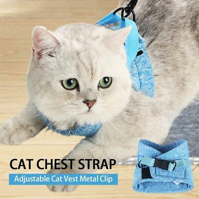 Cat Harness Escape Proof Strap Cat Vest Metal Clip Cat Walking Jacket Comfort